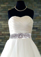 "Bridal ""Daisy"" Diamante Rhinestone Crystal Applique Wedding Dress/Belt Costume"