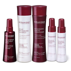 Keranique Thicker Fuller Hair 60 Days System with Keratin Shampoo, Conditioner,