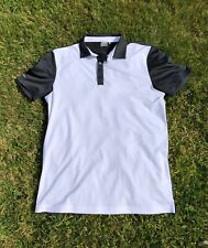 Ping Sensor Cool Black and White Short Sleeve Polo Top Size M Excellent Cond