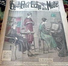 *VTG 1910s PARIS FASHION & SEWING PATTERN CATALOG LE PETIT ECHO de la MODE 1918