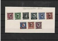 yugoslavia 1919 mounted mint overprint stamps ref 7461