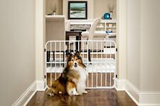 Carlson Pet Products Tuffy Metal Expandable Pet Gate, Includes Small Pet Door, 2