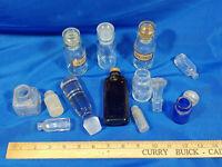 Huge Antique Glass Bottle Lot Apothecary Medicine Spice Allspice Clove Label Per