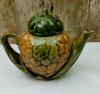 Vintage Small Two Cup Ornamental Pineapple Teapot