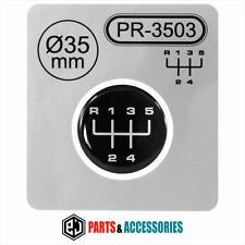 Gear knob shift pattern levier autocollant 3D bombée bâton emblème badge vitesse 5 d - ∅= 35