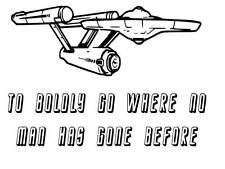 Star Trek Enterprise vinyl Decal / Sticker