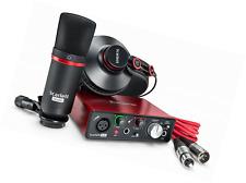 Focusrite Scarlett Solo Studio (2nd Gen.) Interfaz de Audio USB y grabación Bundl