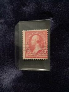 1894 RED SC# 249 MINT TWO CENTS WASHINGTON US STAMP