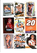 Tony Stewart Lot of 9 Different NASCAR Trading Cards A