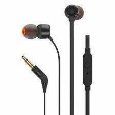 JBL T110 In-Ear Kopfhörer Schwarz Flachkabel 3,5mm Anschluss Leicht Headphones