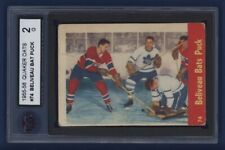 1955-56 Quaker Oats *Beliveau Bats Puck* #74 KSA 2 G Montreal Canadiens !