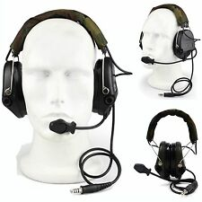 Tactical MSA SORDIN Style Noise Reduction Headset EarMuff for Airsoft Hunting BK