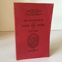 1962 René De Lucinge Las Occurrences de La Paz De Lyon 1601