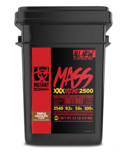 Mutant Mass XXXTREME 2500 10 kg + Shaker triple chocolate