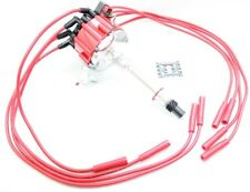 Red HEI Distributor Coil Red 8.5mm Spark Plug Wires 1956-65 Chevy 348 409 V8