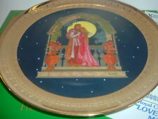 Loves Sweet Embrace Precious Moments Plate Royal Cornwall w/ Coa and Box 1981