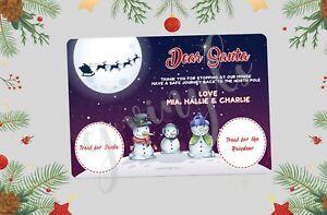 Personalised Christmas Eve Santa Treat Board Place Mats Xmas Gift Present #7