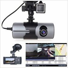 "2.7"" Dual Lens Camera HD 1080P Vehicle Digital Video Recorder GPS Logger Car DVR"