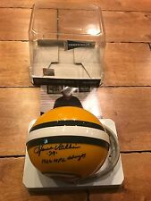 HOWIE WILLIAMS SIGNED AUTO GREEN BAY PACKERS 1962 NFL CHAMPS RIDDELL MINI HELMET
