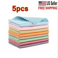 US 5pcs Household Supplies Fish Scale Microfiber Polishing Cleaning Cloth Useful