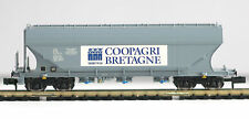 Minitrix Spur N 15516-04 SNCF Getreidesilowagen der CoopAgri Bretagne Neu