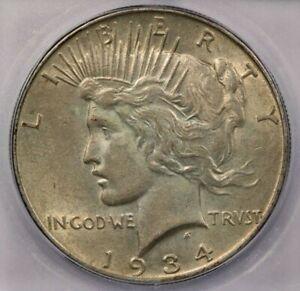 1934-P 1934 Peace Dollar ICG MS61
