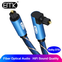 EMK Right Angle Optical Audio Cable SPDIF Digital Toslink 90° Degree Optic Cable