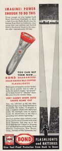 1946 Bond Batteries: Stop Famous Rose Bowl California Vintage Print Ad