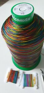 Kit Upholstery MULTI COLORS RAINBOW Thread * Needle  - Upholstery&Craft