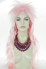 Pink Blonde Long Straight Costume Men Wig Wigs