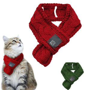 Knitted Pet Scarf Christmas Cat Winter Scarf Collar Neck Puppy Dog Neckerchief