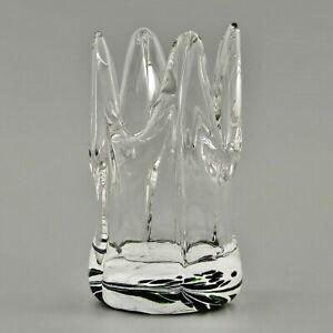 Kronenteelicht, Glas- Windlicht, Teelicht, ca. 12 x 8 cm, Glaskunst-Schmidt