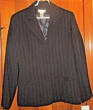 Evan-Picone Women's Blazer NWT Size 10 Black with Red Pin Stripes