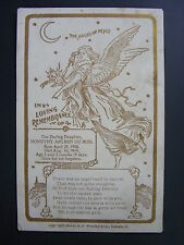 Memorial Death Cabinet Card Baby Dorothy Arleen DuBois Reedsburg Wisconsin 1909