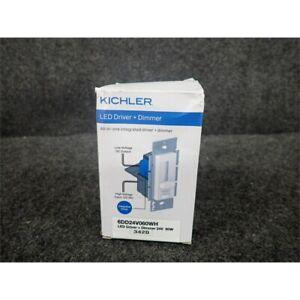 Kichler 6DD24V060WH 24V-60W LED Driver & Dimmer, White