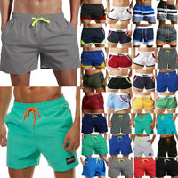 Men Shorts Pants Elastic High Waist Swimsuit Workout Truck Boxer Trousers Summer