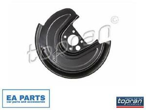 Splash Panel, brake disc TOPRAN 116 814 fits Rear Axle Left