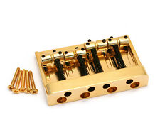 Gold Hi-Mass Heavy Duty 4-String Bass Bridge for Fender P/Jazz® BB-E4-G