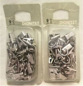 NEW - IKEA Dignitet Curtain Hanging Clips 200.759.47 - 2 Packs of 24 - 48 total