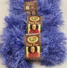 3 Skeins Lion Brand FUN FUR EYELASH Yarn VIOLET #191 Purple, NEW Discontinued