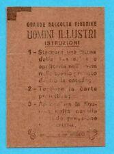UOMINI ILLUSTRI-PANINI 1967-TESSERINA ORIGINALE CON CELLINE BI-ADESIVE