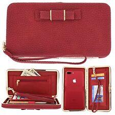 Women's Phone Purse Pouch Handbag Wallet Card Case Cover for iPhone X 7 6 8 Plus