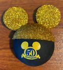 Disneyland 50th Mickey Mouse Ears Magnet Free Shipping