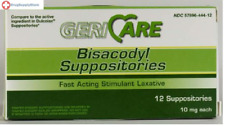 McK Geri-Care Bisacodyl Suppositories Stimulant Laxative 10 mg Strength 12 Ct