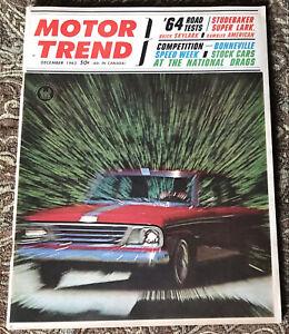 1963 December Motor Trend Magazine Skylark Rambler Studebaker