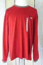Tommy Hilfiger Mens Shirt Crew Neck Stripe Long Sleeve Nepal Red Size XXL