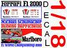 ANEXO DECAL 1/18 FERRARI F1 2000 MICHAEL SCHUMACHER – RUBENS BARRICHELLO (01)
