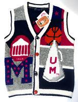 Ole Miss Sweater Vest University of Mississippi Basketball Football Size Medium