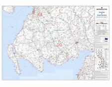 Postcode Sector Map 23 Dumfries and South Ayrshire - Laminated Wall Map