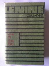 LENINE OEUVRES TOME 21 AOUT 1914 DECEMBRE 1915 RUSSIE BIOGRAPHIE